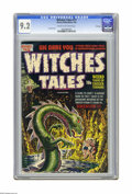 Golden Age (1938-1955):Horror, Witches Tales #17 File Copy (Harvey, 1953) CGC NM- 9.2 Cream tooff-white pages. Atomic disaster story. Lee Elias cover. Rud...