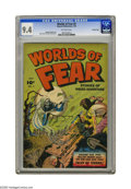 Golden Age (1938-1955):Horror, Worlds of Fear #5 Crowley Copy pedigree (Fawcett, 1952) CGC NM 9.4Off-white pages. This issue's ghoulish grave-robbing cove...