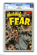 Golden Age (1938-1955):Horror, Worlds of Fear #10 Crowley Copy pedigree (Fawcett, 1953) CGC FN+6.5 Off-white pages. A horrific painted cover by Norm Saund...