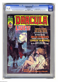Dracula Lives! #5 (Marvel, 1974) CGC NM/MT 9.8 White pages. Bram Stoker adaptation begins. Luis Dominguez cover. Gene Co...