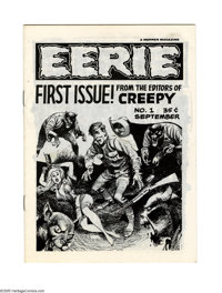 Eerie #1 First Printing (Warren, 1965) Condition: NM-. This is the first time we've seen a first printing of this premie...