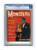 Magazines:Horror, Famous Monsters of Filmland #1 (Warren, 1958) CGC VG- 3.5 Off-white pages. This first Warren monster magazine isn't easy to ...