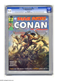 Magazines:Superhero, Savage Sword of Conan #1 (Marvel, 1974) CGC NM/MT 9.8 White pages.The third appearance of Red Sonja is just one highlight o...