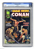 Magazines:Superhero, Savage Sword of Conan #3 (Marvel, 1974) CGC NM/MT 9.8 White pages.Painted cover by Mike Kaluta. Interior art by Barry Smith...