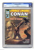 "Magazines:Superhero, Savage Sword of Conan #5 (Marvel, 1975) CGC NM/MT 9.8 White pages.Adaptation of the Robert E. Howard story ""A Witch Shall B..."