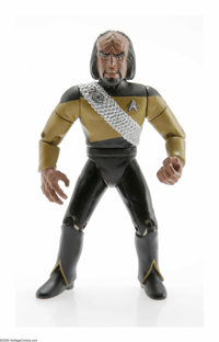 "Star Trek Worf Action Figure Prototype (1992). This is a urethane casting of the Worf figure for the Playmates ""Sta..."
