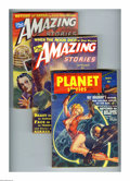 Pulps:Miscellaneous, Science Fiction Pulp Group (Various, 1939-53). This group of pulps includes Planet Stories Nov. 1953 (Qualified FN, trim... (Total: 8 Items)