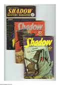 Pulps:Detective, Shadow Pulp Group (Street & Smith, 1940-54) Condition: Average GD/VG. This lot consists of the Jan. 1/40; Aug. 15/40, and Ju... (Total: 3 Items)