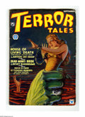 Pulps:Horror, Terror Tales V1#1 (Popular, Sept. 1934) Condition: VG/FN. Classiccover by Rudolph Zirm features a giant hand dragging a sha...