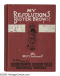 """Platinum Age (1897-1937):Miscellaneous, Buster Brown: """"My Resolutions"""" Promotional Hardcover (R. F. Outcault, 1910) Condition: Very Good. Measuring approximately 4 ..."""