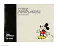 Memorabilia:Miscellaneous, Mickey Mouse in Color Oversized Limited Edition Hardcover #2558/3000 Signed (Another Rainbow, 1988). This is the ultimate Fl...