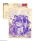 Silver Age (1956-1969):Alternative/Underground, Arcade #1 Robert Crumb Fanzine (Crumb Brothers, 1960) Condition: GD/VG. Here's an incredible find for collectors searching f... (Total: 2 Items)