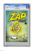 Silver Age (1956-1969):Alternative/Underground, Zap Comix #0 (Apex Novelties, 1967) CGC NM 9.4 Off-white pages.Second printing. Robert Crumb cover and story art. Adult the...