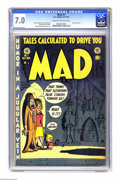 Golden Age (1938-1955):Humor, Mad #1 (EC, 1952) CGC FN/VF 7.0 Cream to off-white pages. Comic book history was made with this first issue of Mad, as t...