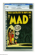 Golden Age (1938-1955):Humor, Mad #1 Bethlehem pedigree (EC, 1952) CGC FN/VF 7.0 Off-white pages. The Bethlehem provenance lends extra cachet to this copy...