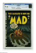 """Golden Age (1938-1955):Humor, Mad #6 Gaines File pedigree 3/12 (EC, 1953) CGC NM 9.4 White pages. Parody MADness continues this issue with """"Teddy and the ..."""