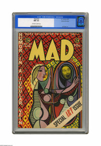 Mad #22 Gaines File pedigree 8/12 (EC, 1955) CGC NM 9.4 Off-white to white pages. Bill Elder took center stage in issue...