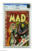 Golden Age (1938-1955):Humor, Mad #22 (EC, 1955) CGC NM 9.4 Off-white to white pages. This is one of the few top-grade Mads we've seen that isn't from...