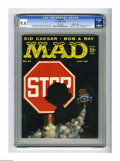"""Magazines:Mad, Mad #47 Gaines File pedigree (EC, 1959) CGC NM 9.4 White pages.Clearly it's hard to """"stop"""" laughing when Frank Kelly Freas ..."""