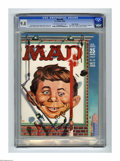 Magazines:Mad, Mad #50 Gaines File pedigree (EC, 1959) CGC NM/MT 9.8 Off-white towhite pages. This big 50th issue sports another great cov...
