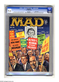 "Magazines:Mad, Mad #56 Gaines File pedigree (EC, 1960) CGC NM+ 9.6 White pages.Dagwood singing ""Old Man Dithers"" is just one number in a r..."