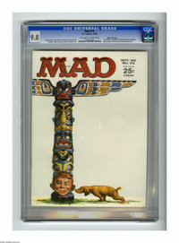 Mad #74 Gaines File pedigree (EC, 1962) CGC NM/MT 9.8 Off-white to white pages. Looks like the totem pole is in trouble...