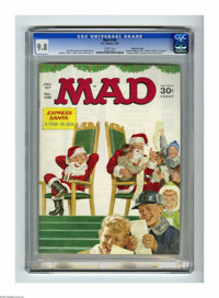 Mad #108 Gaines File pedigree (EC, 1967) CGC NM/MT 9.8 White pages. Even Norman Rockwell would have to appreciate this c...