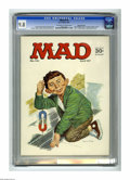 "Magazines:Mad, Mad #110 Gaines File pedigree (EC, 1967) CGC NM/MT 9.8 Off-white towhite pages. ""Yellow Pages for Super-Heroes"" article. No..."