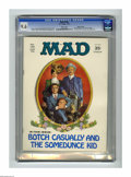 Magazines:Mad, Mad #136 Gaines File pedigree (EC, 1970) CGC NM+ 9.6 White pages.Butch and Sundance fans will have a ball with this Norman ...