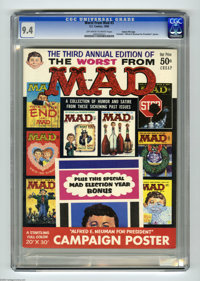 """Worst From Mad #3 Gaines File pedigree (EC, 1960) CGC NM 9.4 Off-white to white pages. This issue includes the 20""""..."""