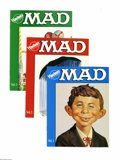 Memorabilia:Mad, Hardee's Mad Giveaway Brochures #1-6 Gaines File pedigree (EC,1989) Condition: Average VF/NM. These brochures have eight in...