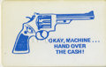 """Memorabilia:Mad, Mad Promotional Items Lot of 3. We give you a plastic """"auto tellerhold up"""" card -- and no, we won't post bail if you use it..."""