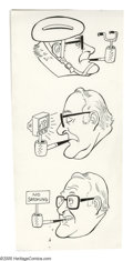 Original Comic Art:Sketches, Dave Berg - Self Portrait Illustration Original Art, Group of 5 (undated). Who doesn't recognize the man in glasses with the... (Total: 5)