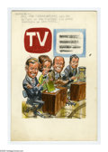 "Original Comic Art:Covers, Jack Davis - TV Guide, May 24-30, 1969 ""Today Show"" CoverPreliminary Original Art (TV Guide, 1969). As young readers grewu..."