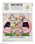 "Original Comic Art:Splash Pages, Al Jaffee - Mad #187 Fold-In Back Cover Original Art (EC, 1976).This issue's Fold-In puzzler asks, ""What popular con game p..."