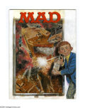 Original Comic Art:Covers, Norman Mingo - Mad #177 Cover Preliminary Sketch Original Art (EC,1975). For this cover, Alfred shpritzes the Hollywood blo...