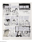 """Original Comic Art:Complete Story, Angelo Torres - Mad #202 Complete 6-page Story """"Lust Boat"""" Original Art (EC, 1978). The crew at Mad sink the crew of the... (Total: 6 Items)"""