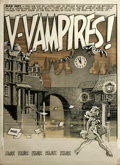 "Original Comic Art:Complete Story, Wally Wood - Three Dimensional EC Classics Complete 8 page Story ""V-Vampires"" Original Art (EC, 1954). For EC's foray into t... (Total: 8)"