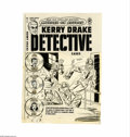 Original Comic Art:Covers, Alfred Andriola - Kerry Drake Detective Cases #21 Cover OriginalArt (Harvey, 1950). Chief investigator for the D.A., Kerry ...(Total: 2 Items)