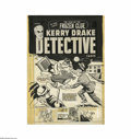 Original Comic Art:Covers, Al Avison - Kerry Drake Detective Cases #27 Cover Original Art(Harvey, 1951). On this thriller, Kerry Drake has his hands f...