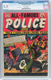 All-Famous Police Cases #6 (Star Publications, 1952) CGC VG/FN 5.0 Off-white pages