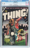 Golden Age (1938-1955):Horror, The Thing! #16 (Charlton, 1954) CGC FN/VF 7.0 Off-white to whitepages....