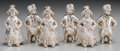 Silver Smalls, A Set of Six German Silver Figural Salt and Pepper Shakers, late19th-early 20th century. Marks: (crescent-crown), 800. ...(Total: 6 Items)