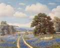 Fine Art - Painting, American:Contemporary   (1950 to present)  , Paul Turner (American, 1904-1993). Springtime Bluebonnets.Oil on canvas. 24 x 30 inches (61 x 76.2 cm). Signed lower ri...