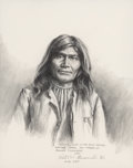 Fine Art - Work on Paper:Drawing, Peter V. Bianchi (American, 20th Century). Group of Four NativeAmerican Leader Portraits, 1991. Pencil on paper, each. ...(Total: 4 Items)