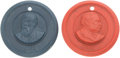 Political, Grover Cleveland and Benjamin Harrison: Celluloid Medals.... (Total: 2 Items)
