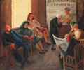 Fine Art - Painting, American:Modern  (1900 1949)  , M. Grabill (American, 20th Century). The Waiting Room. Oilon canvas. 24 x 29 inches (61.0 x 73.7 cm). Signed lower righ...