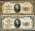 National Bank Notes:Georgia, Albany, GA - $20 1929 Ty. 1 Albany Exchange NB Ch. # 5512, Two Examples. ... (Total: 2 notes)