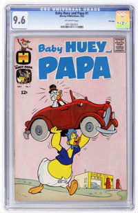 Baby Huey and Papa #1 - FILE COPY (Harvey, 1962) CGC NM+ 9.6 Off-white pages