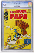 Silver Age (1956-1969):Humor, Baby Huey and Papa #2 - File Copy (Harvey, 1962) CGC NM 9.4 Off-white pages.